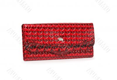 Red Leather Change Purse