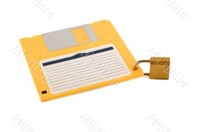 lock diskette symbol protection