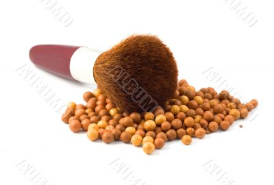 Face Powder brush in mineral make up ball-powder