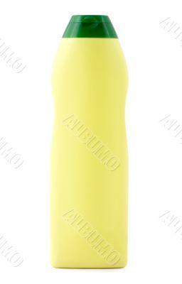 Blank yellow plastic bottle