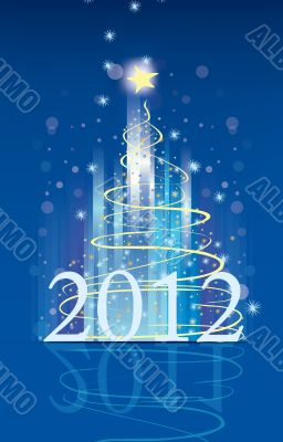 Background for new year and for Christmas