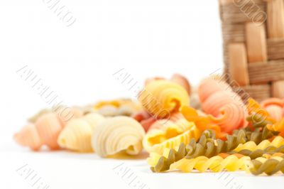 different kinds of pasta, background