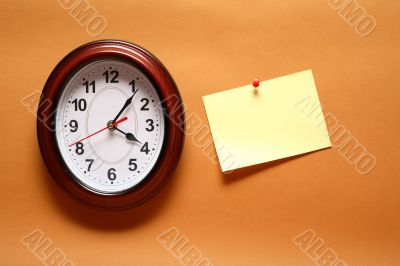 Paper Note And Clock