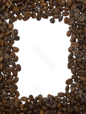 frame from coffee beans