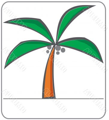 Simple vector palm tree