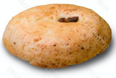 Rich roll with raisin