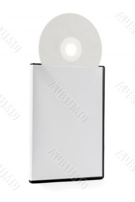 CD disk case with blank cover