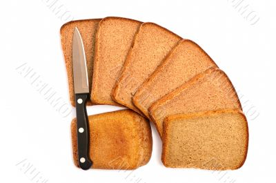 Cut bread with a knife
