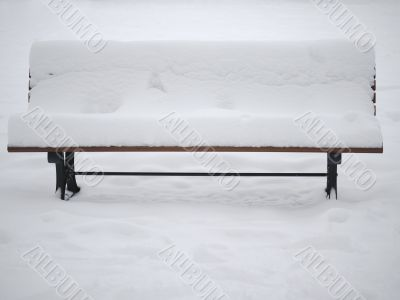 Winter - Bench full with snow