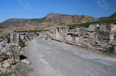 Empty Street in Ancient Hierapolis