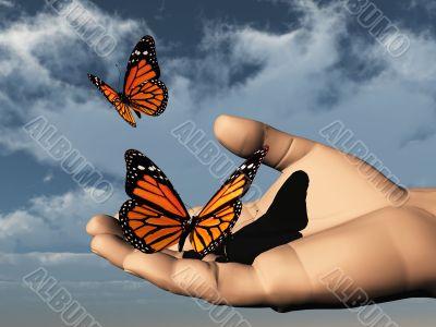 libre comme un papillon
