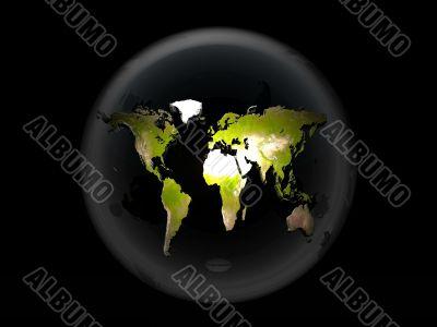 earth in bubble