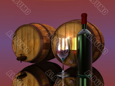 wine and barrels