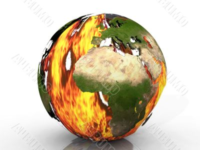 Earth in flame