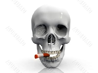 skull and cigarette