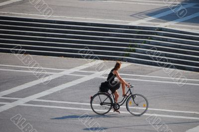 woman and her cycle