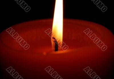 Burning Candle Black Background