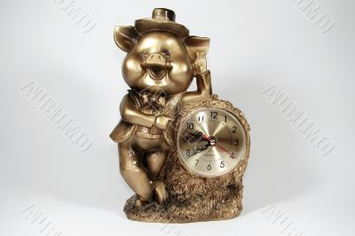 """desktop clock """"piggy"""""""