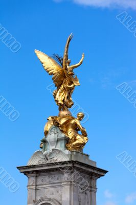 Statue of Victory on pinnacle of Queen Victoria Memorial, London