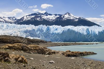 view of the glacier Perito Moreno