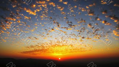 unusual sunset