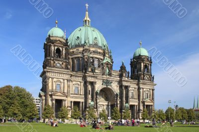 Berlin - Berliner Dom on a nice summer day