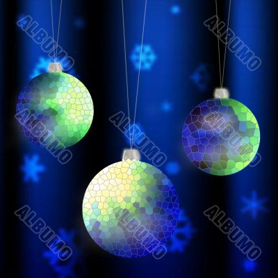 holiday background with christmas balls