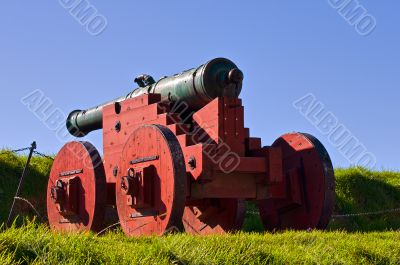 Antique cannon in grounds of Akershus Fortress