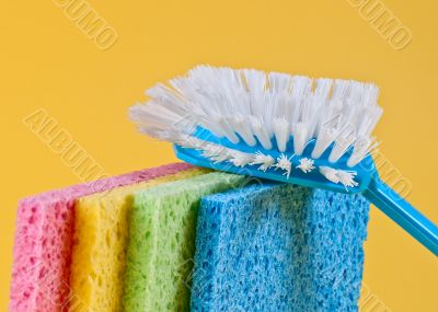 Brush and sponges