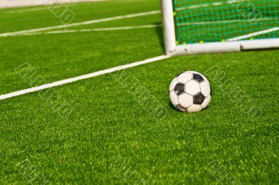 Soccer ball football goals backgraund