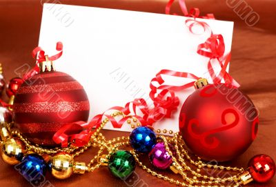 Red and other colorful Christmas baubles