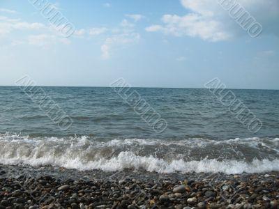 Seashore of the Black sea. Summer journey