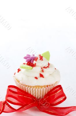 Vanilla cupcake with butter cream icing