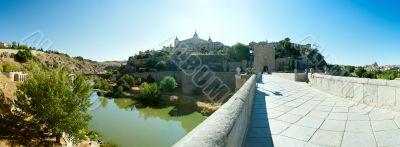 Beautiful bright panoramic view of Toledo, Spain