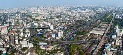 Beautiful view of Bangkok, Thailand From Baiyoke Sky Hotel