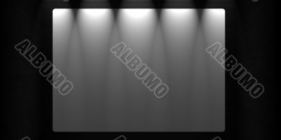 Creative wooden background. Blank white banner Inside a room