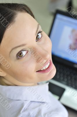 Portrait of a beautiful young businesswoman looking at the camer