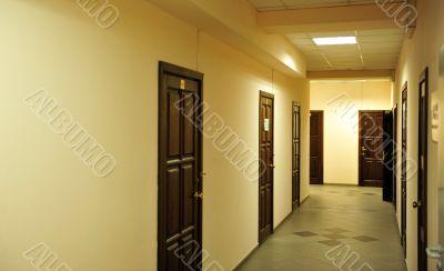 a bright and warm corridor
