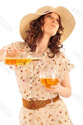 Closeup portrait of trendy pretty woman wearing stylish dress ho