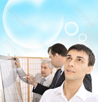 Portrait of a team planning.