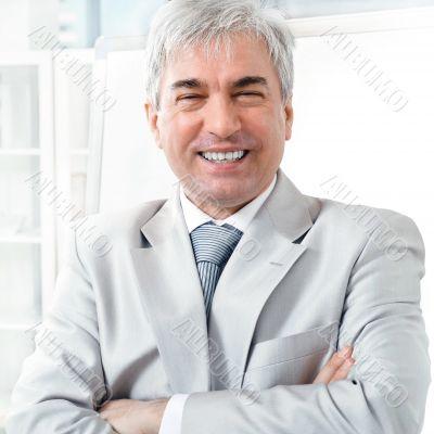 Portrait of an older businessman.