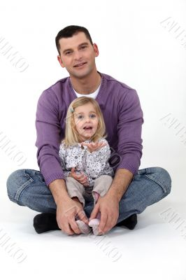 A father and his daughter.