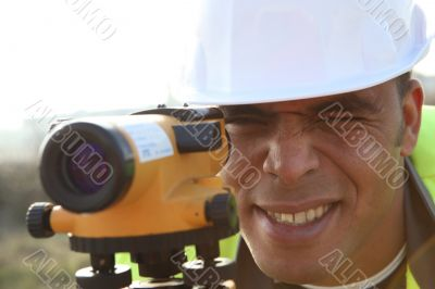 surveyor working