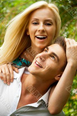Portrait of love coupl