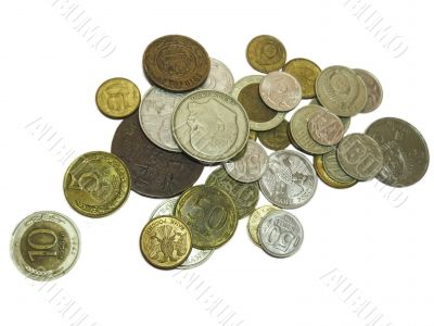 Old russian coins of different times