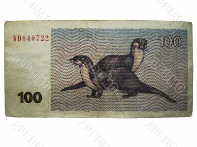 Lietuvos respublika 100 talonas. Temporary currency 1992