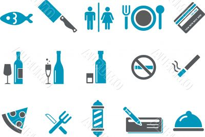 Bar and restaurant Icon Set
