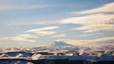 Elbrus mountain highest peak of Europe. Panorama