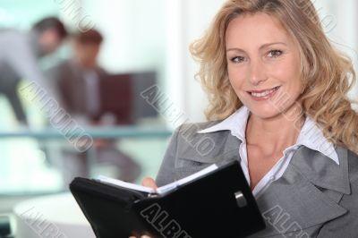 Mature businesswoman confident
