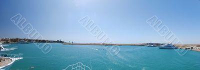 panorama sea and port